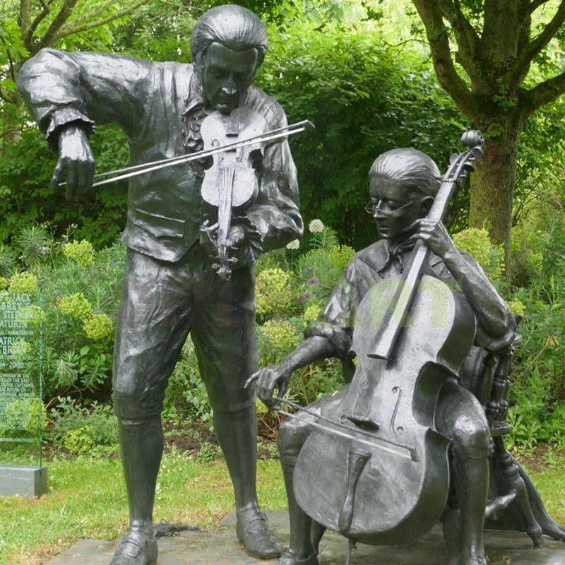 Hot sale bronze jazz band figurines,music jazz statue