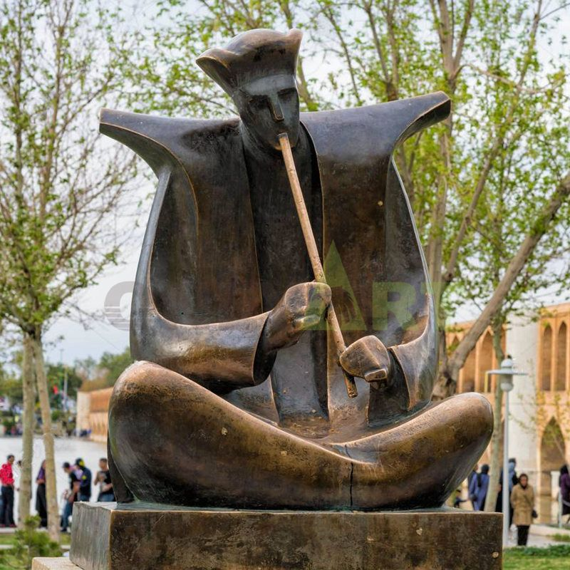 Art decoration musician figurines bronze musician statues