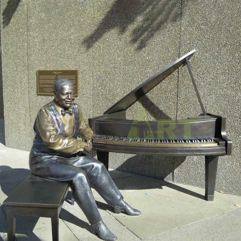 Abstract decoration pianist bronze sculpture statue