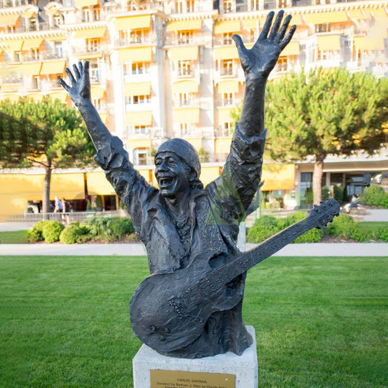 Modern art decorative abstract bronze musicians statue