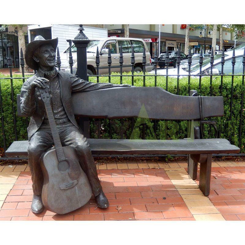 outdoor garden Action Figure bronze sculpture Musician statue