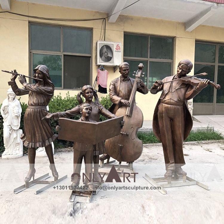 Chinese supplier bronze Choir statue