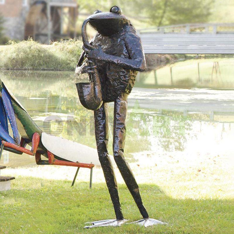 Inoxydable Outdoor Animal Metal Bronze Frog Sculpture