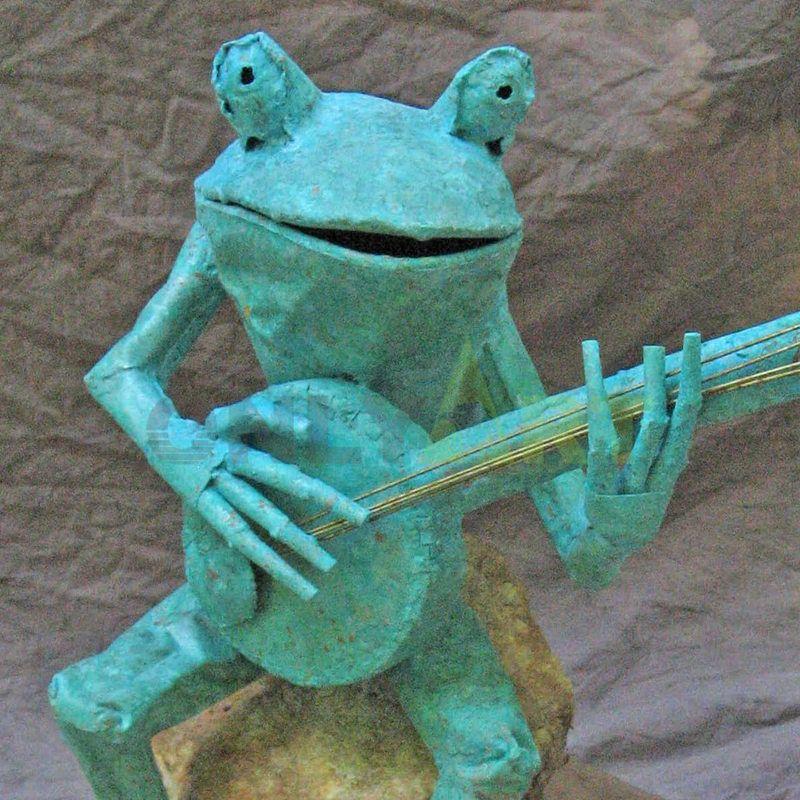 Inoxydable Outdoor Animal Metal  Frog Sculpture