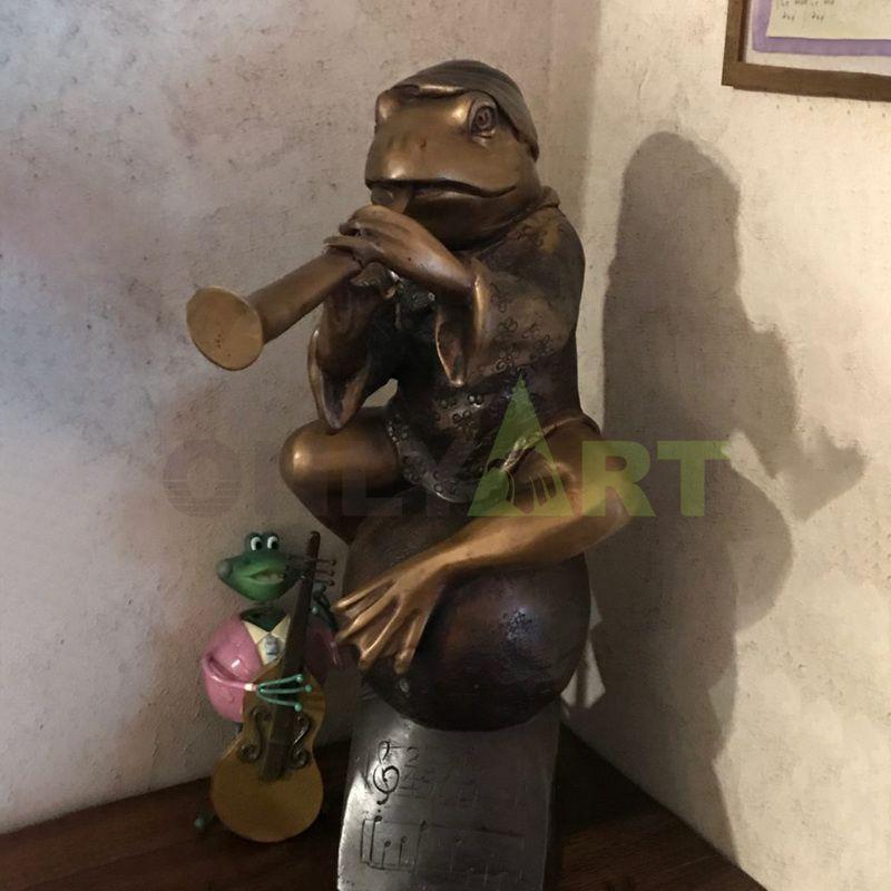 Factory custom made  ornament bronze frog statue