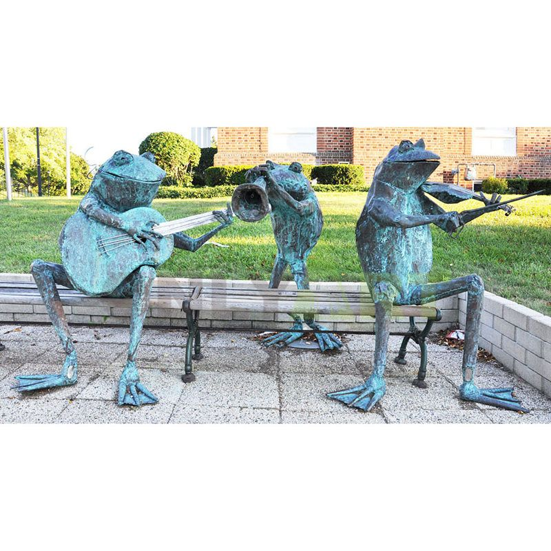 The Frog Music Group bronze sculpture