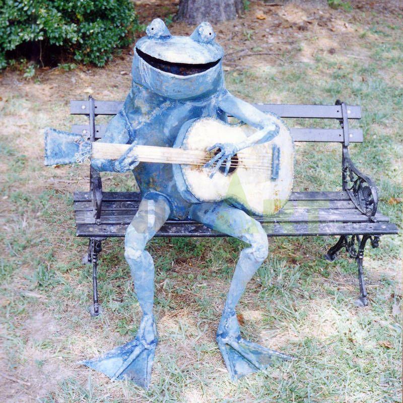 Bronze statue Bronze Frog garden sculpture