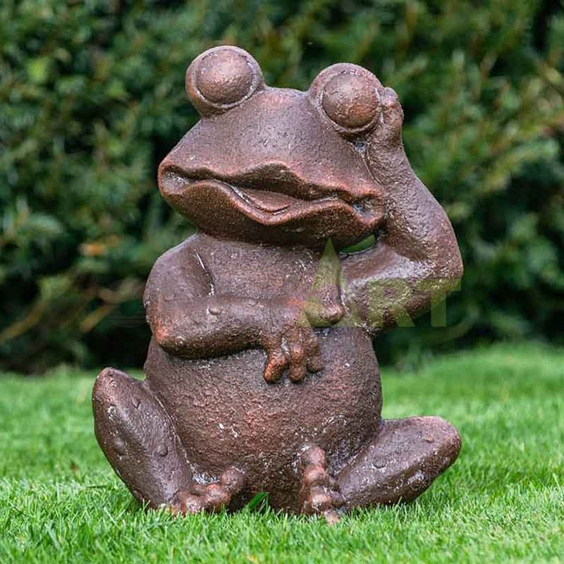 Frog couple dancing sculpture inside and outside