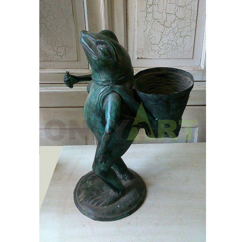 3D Creative Decorations Resin Yoga Frog Figurines Cute