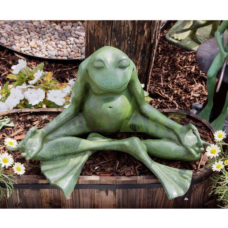 Cast bronze Zen Frog Garden Statue