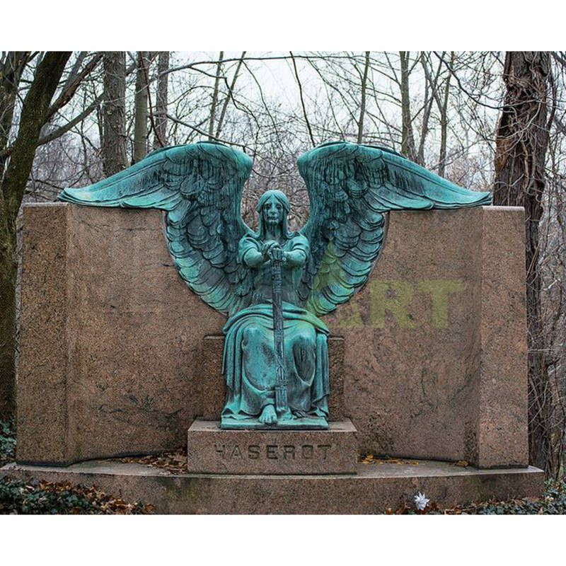 The Angel of Death triumphed over the bronze statue