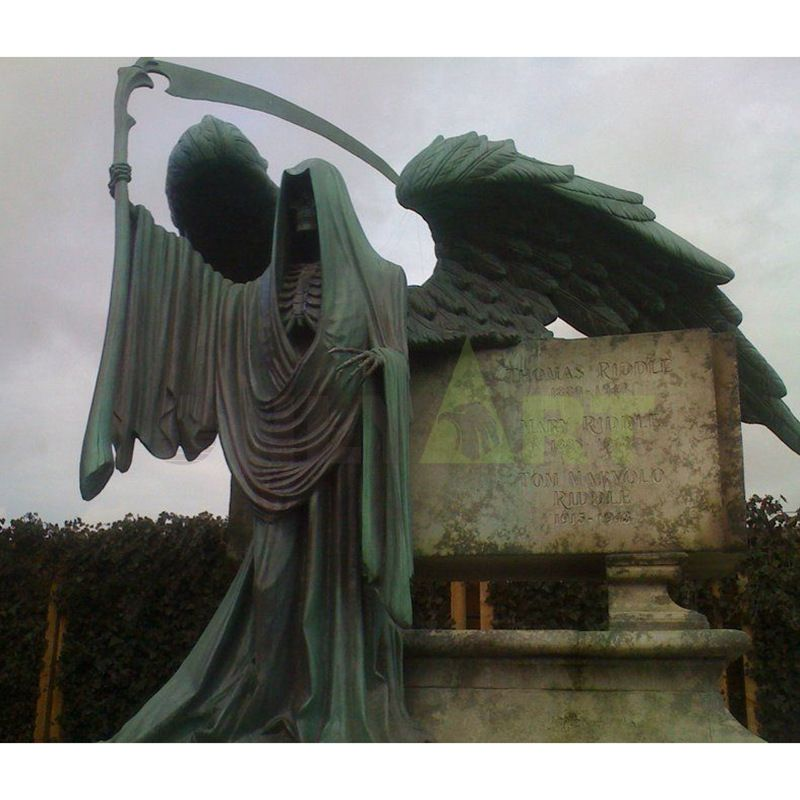 Dark Angel life-size bronze statue