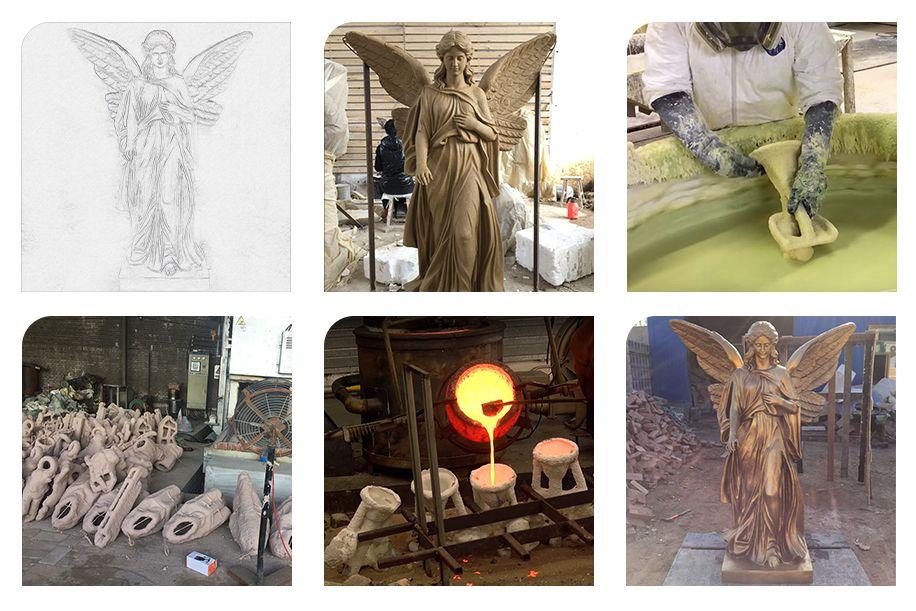 Torch Goddess angel sculpture