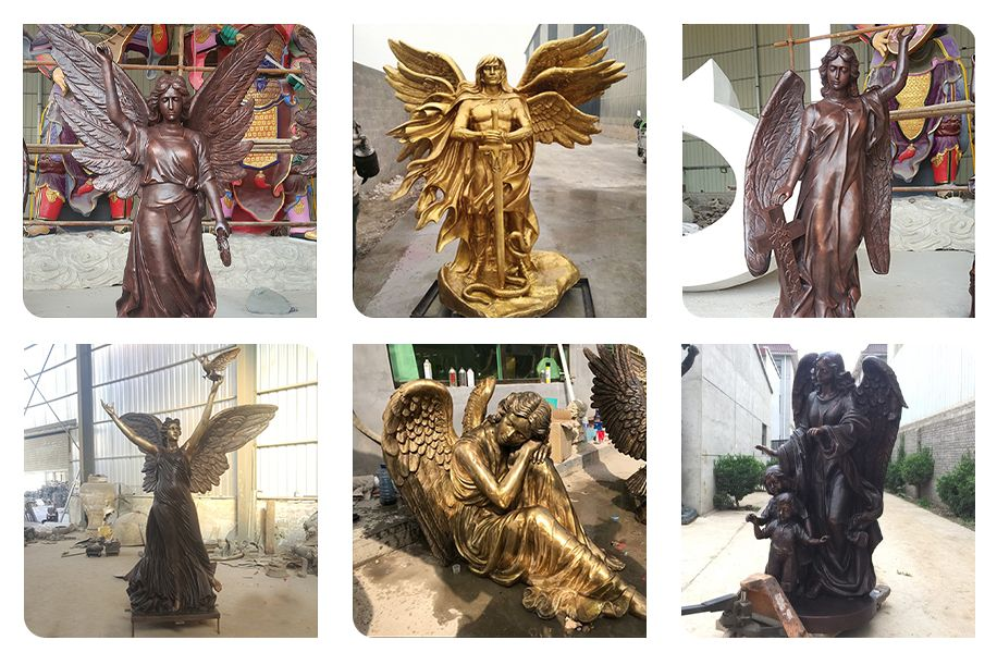 Yearning for freedom girl angel sculpture