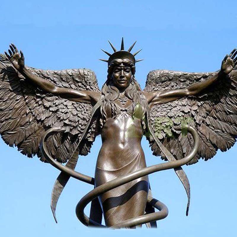 Animal King angel sculpture