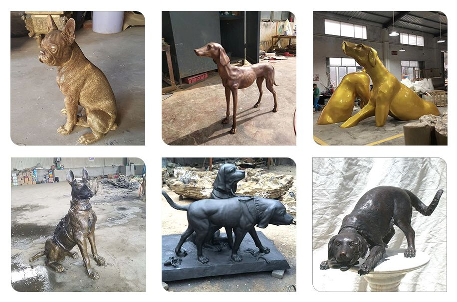 .Life Size Outdoor Military Bronze Soldier and Dog Sculpturefor Sale