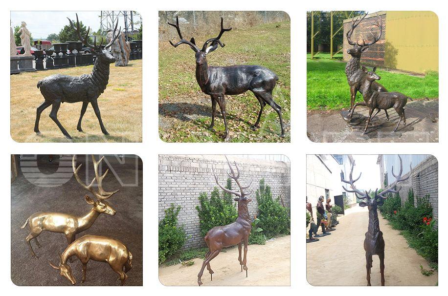Decorative Garden Bronze Deer Sculpture