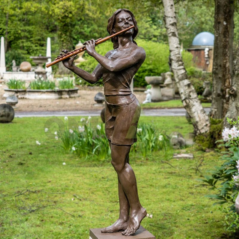 Wholesale Outdoor vintage MUSICIAN women statue statues importers statues funny