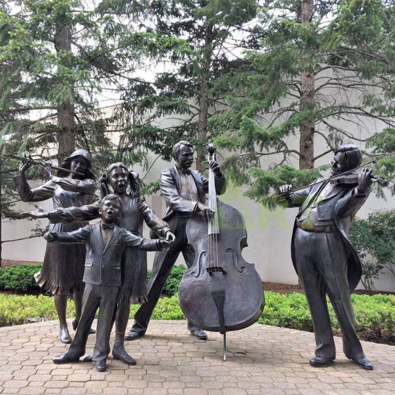 Musicians Statue Bronze Figurine