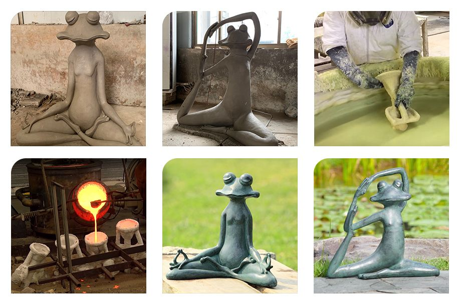 Top Quality Resin Frogs Sculpture For Garden Decor